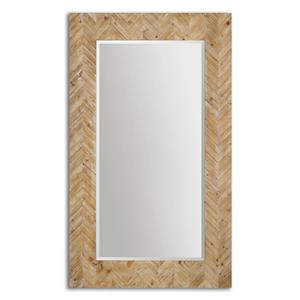 Demetria Oversized Wooden Mirror