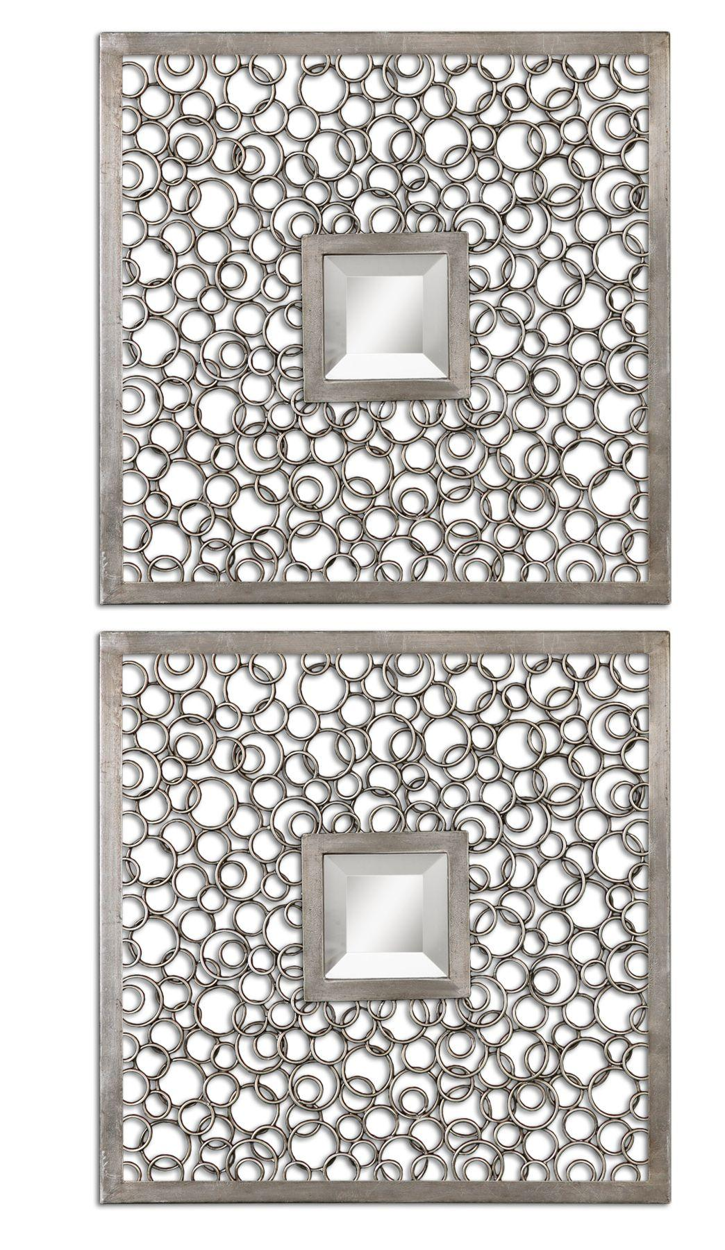 Uttermost Mirrors Colusa Squares Set of 2 - Item Number: 07622