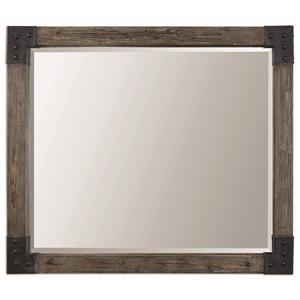 Nelo Weathered Wood Mirror