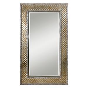 Mondego Woven Nickel Mirror