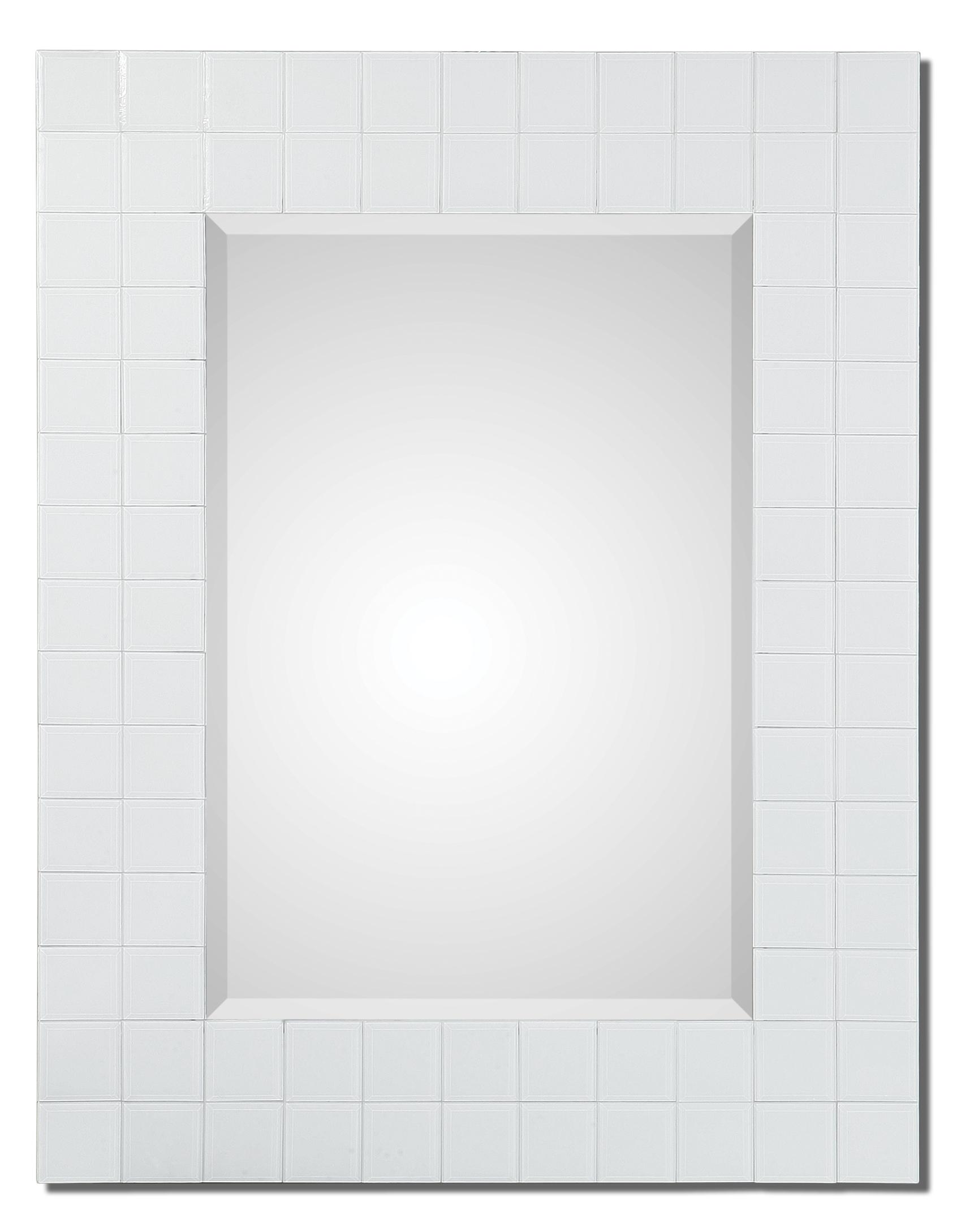 Uttermost Mirrors Brooks White Mosaic Mirror - Item Number: 08112