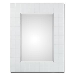Uttermost Mirrors Brooks White Mosaic Mirror