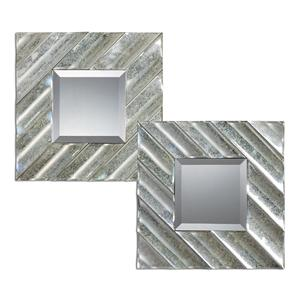 Uttermost Mirrors Jovan Squares, Set of  2 Silver Mirror