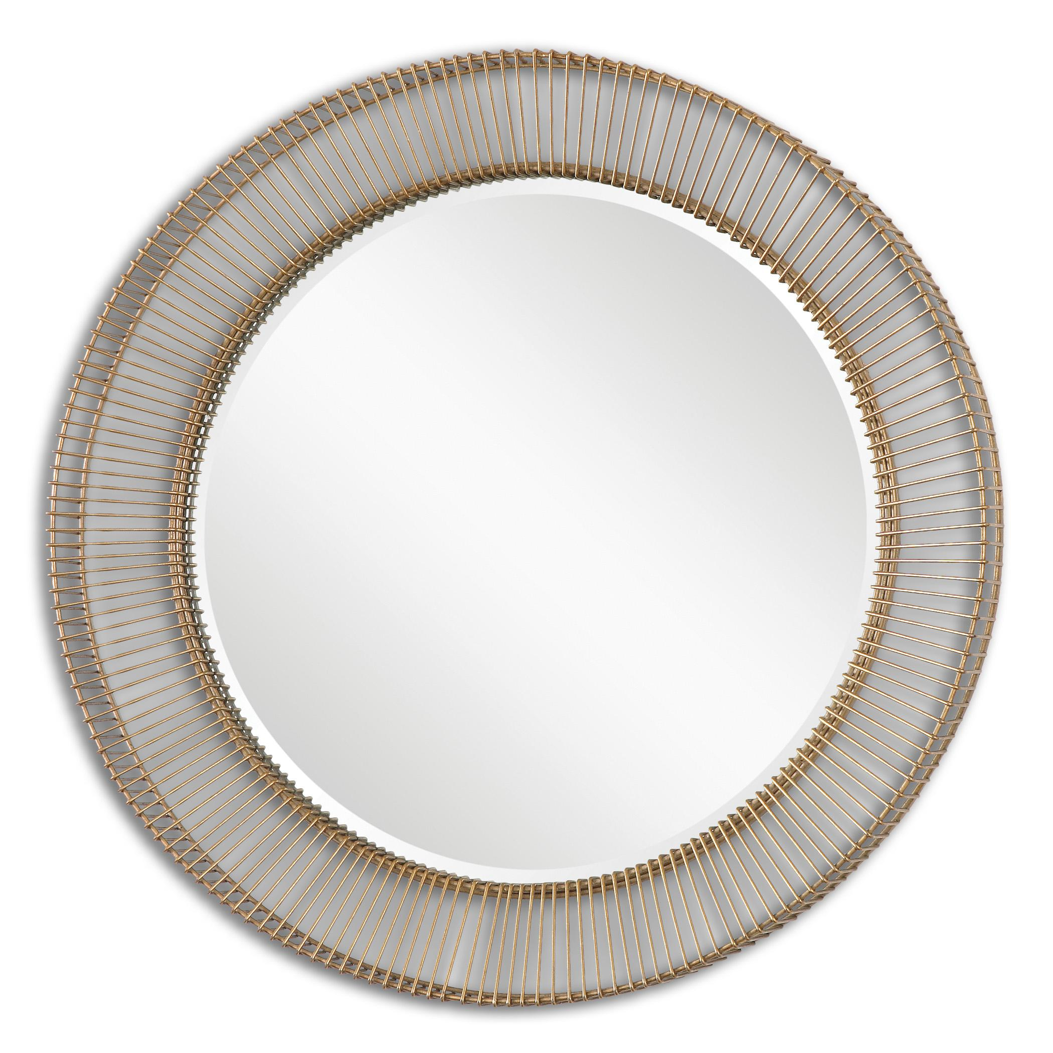 Uttermost Mirrors Bricius Round Metal Mirror - Item Number: 08125