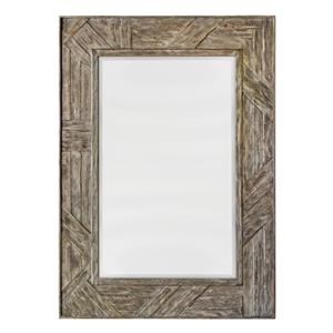 Uttermost Mirrors Fortuo Mahogany Wood Mirror