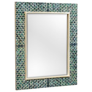 Uttermost Mirrors Makaria Coastal Blue Mirror