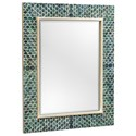 Uttermost Mirrors Makaria Coastal Blue Mirror - Item Number: 08157