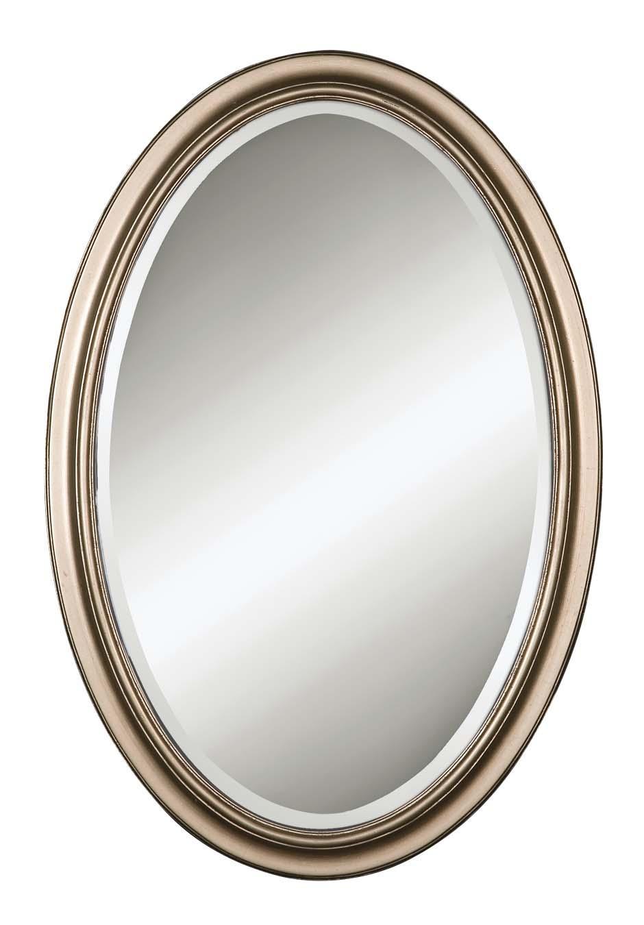 Uttermost Mirrors Petite Manhattan Oval Champagne SilverU - Item Number: 08646 B