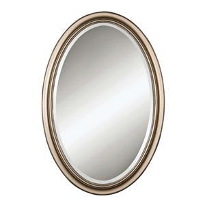 Uttermost Mirrors Petite Manhattan Oval Champagne SilverU