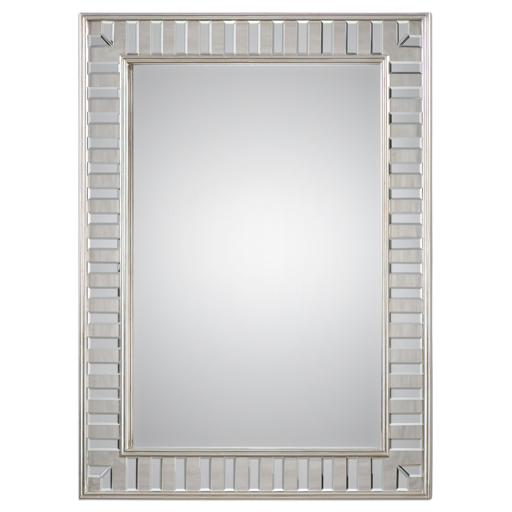 Uttermost Mirrors Lanester Silver Leaf Mirror - Item Number: 09046