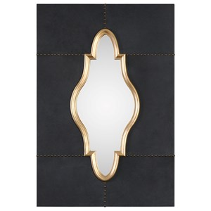 Uttermost Mirrors Kamal Black Leather Mirror