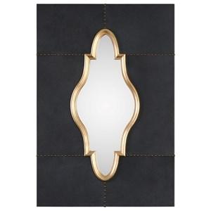 Uttermost Mirrors Kamal Black Leather Mirror