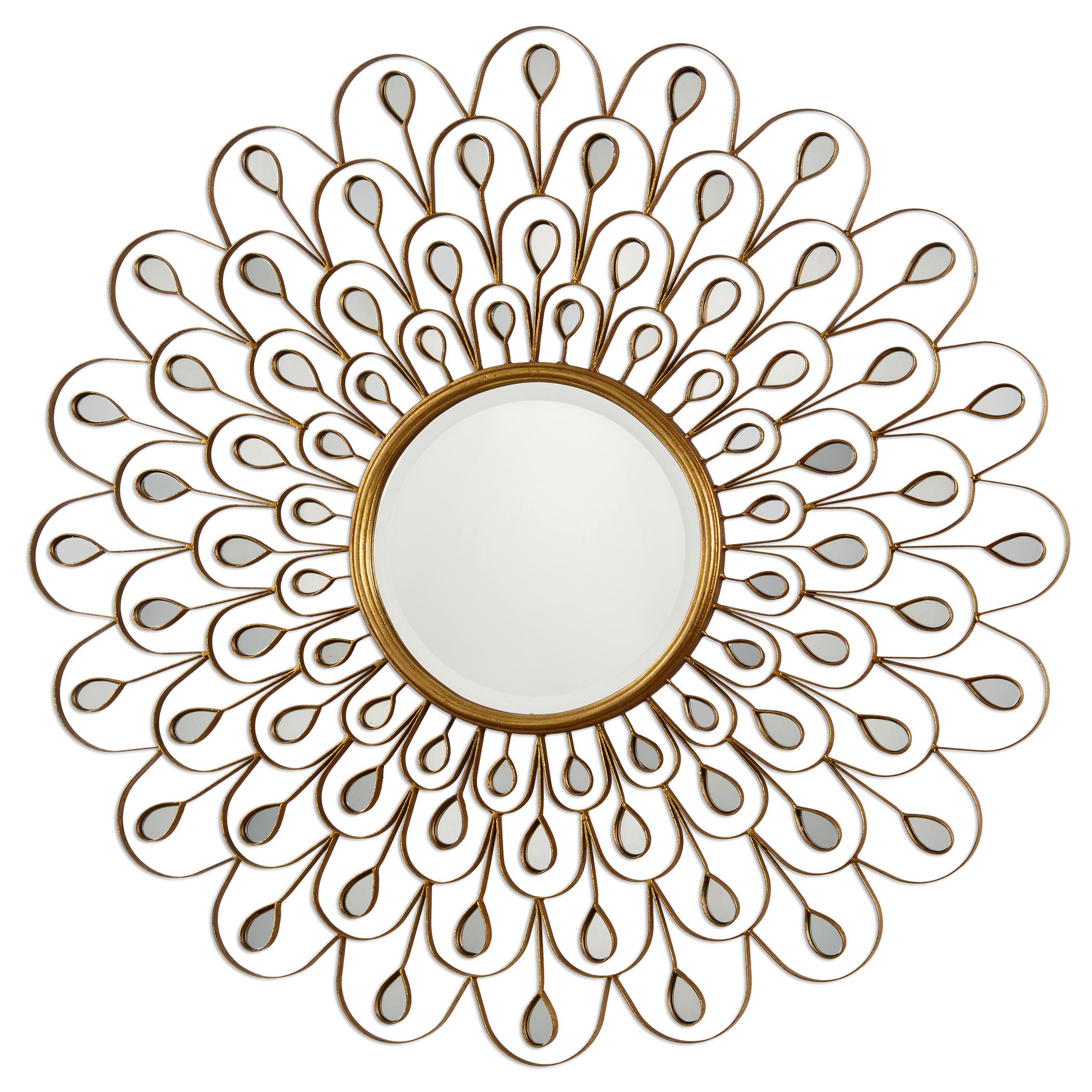 Uttermost Mirrors Golden Peacock Mirror - Item Number: 09056