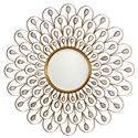Uttermost Mirrors Golden Peacock Mirror - Item Number: 09056