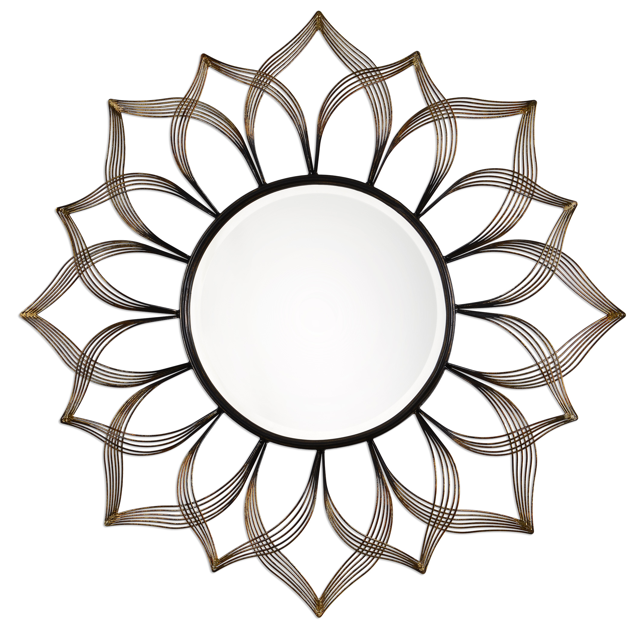 Uttermost Mirrors Imani Iron Sunflower Mirror - Item Number: 09057