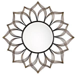 Uttermost Mirrors Imani Iron Sunflower Mirror