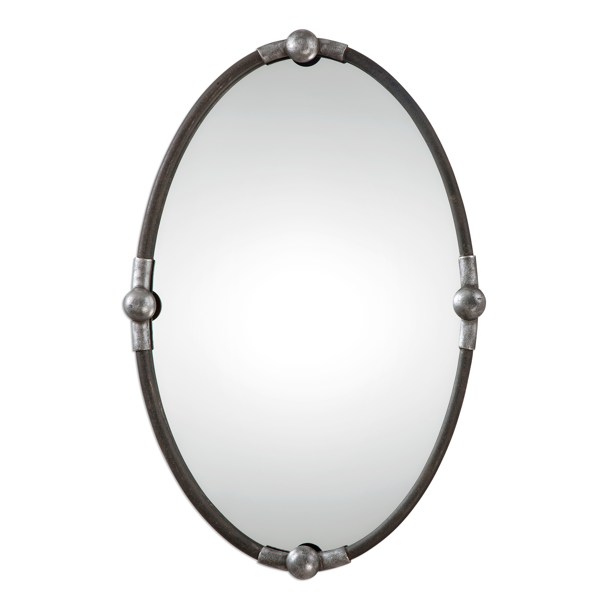 Uttermost Mirrors Carrick Black Oval Mirror - Item Number: 09064