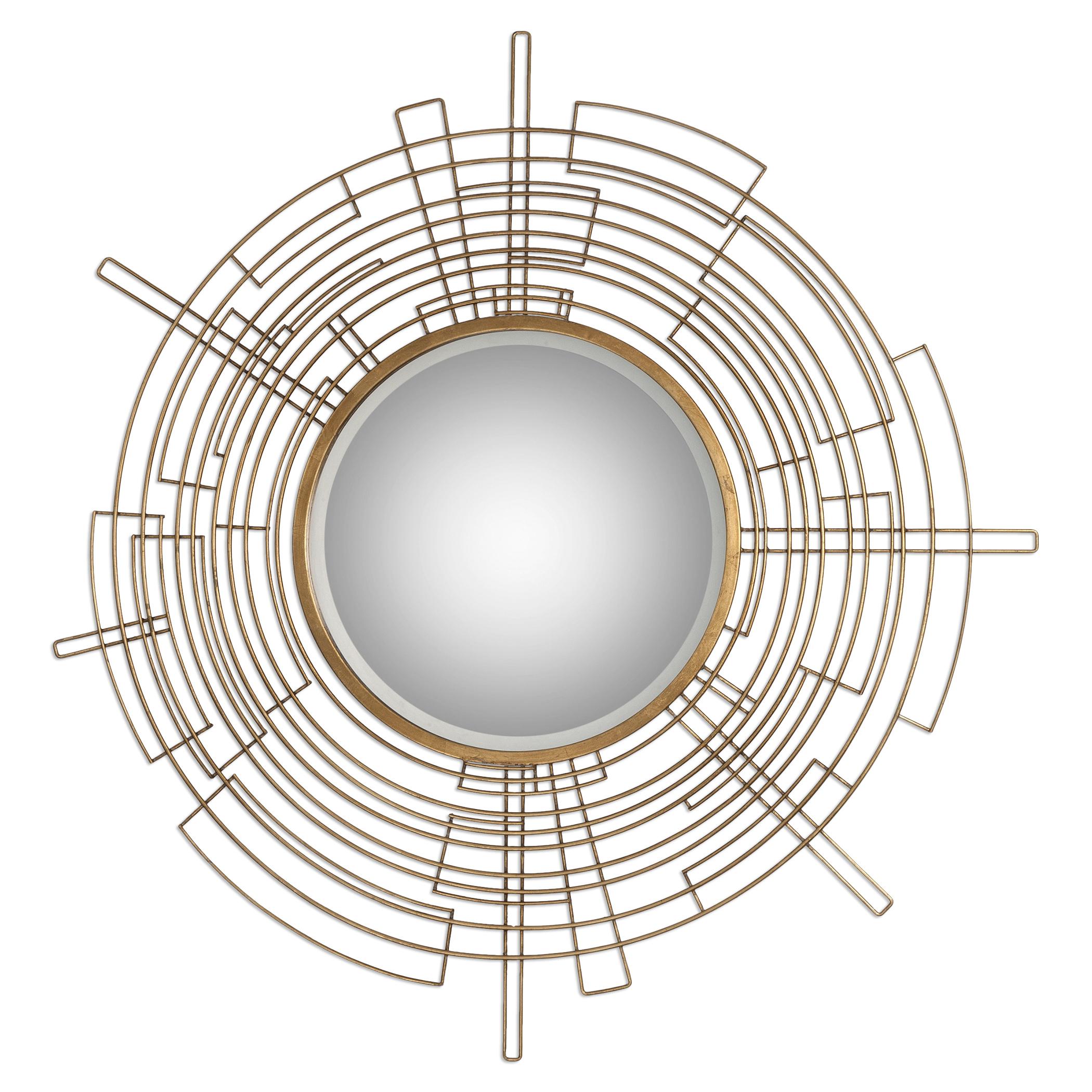 Uttermost Mirrors Vector Round Modern Mirror - Item Number: 09066