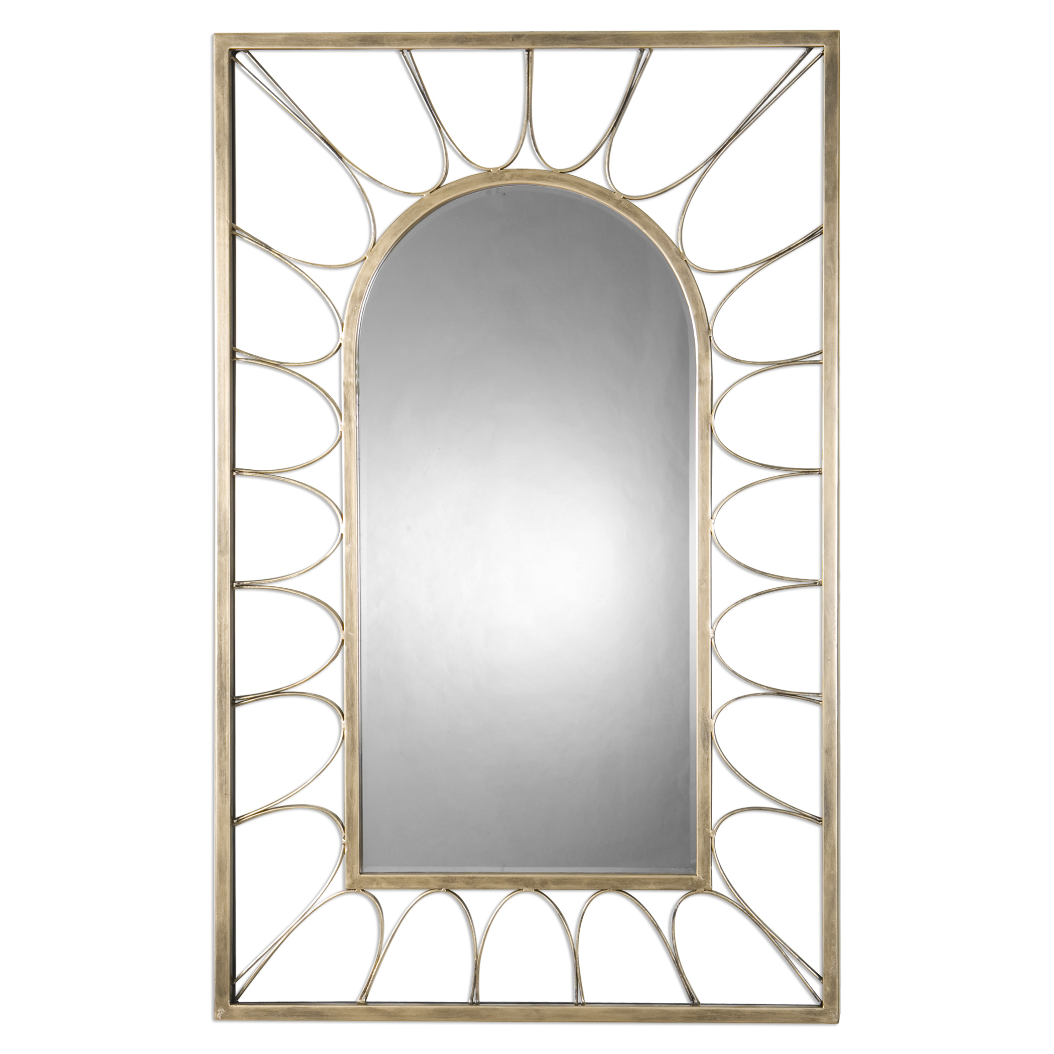 Uttermost Mirrors Calvados Gold Arch Mirror - Item Number: 09085