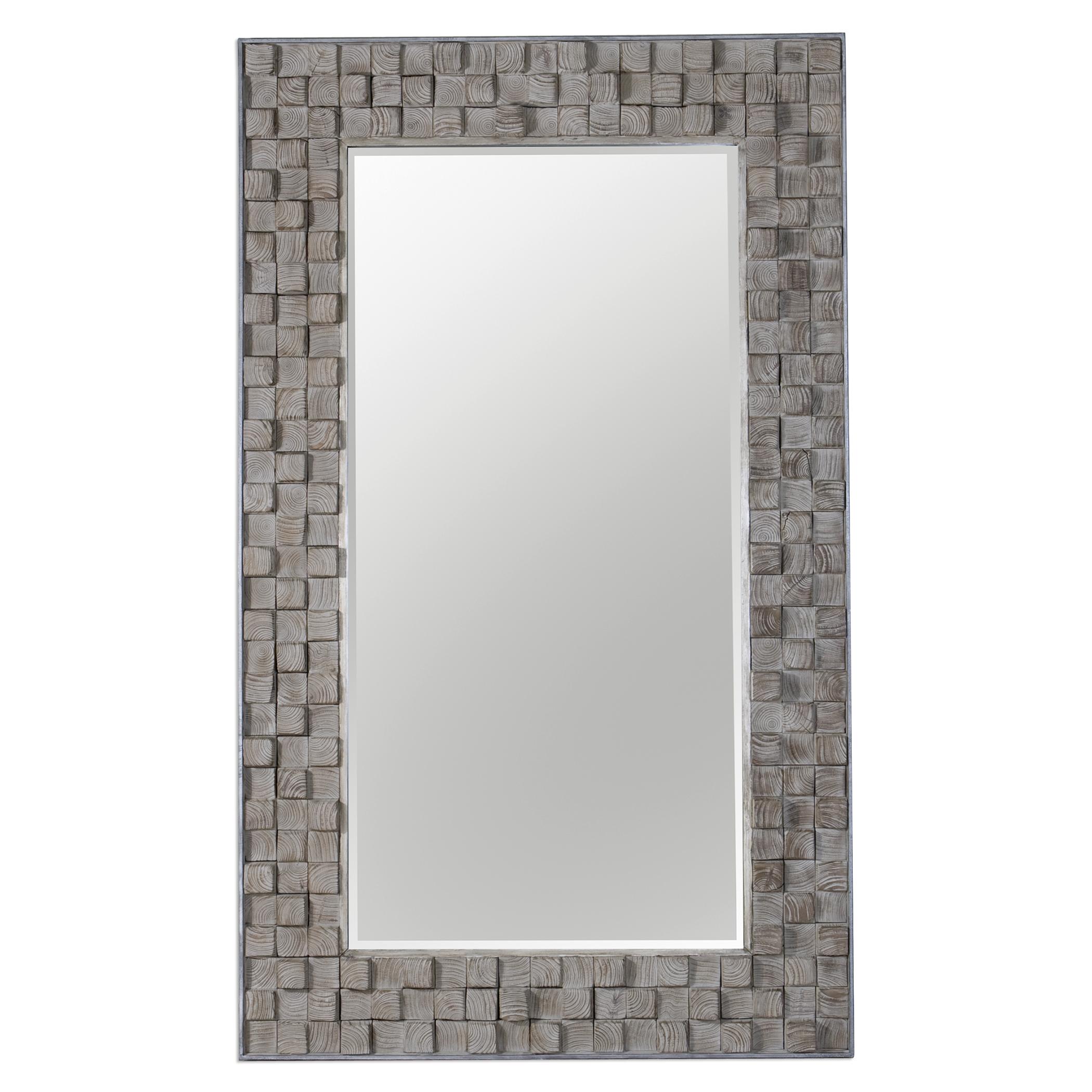 Uttermost Mirrors Beasley Wood Block Mirror - Item Number: 09086
