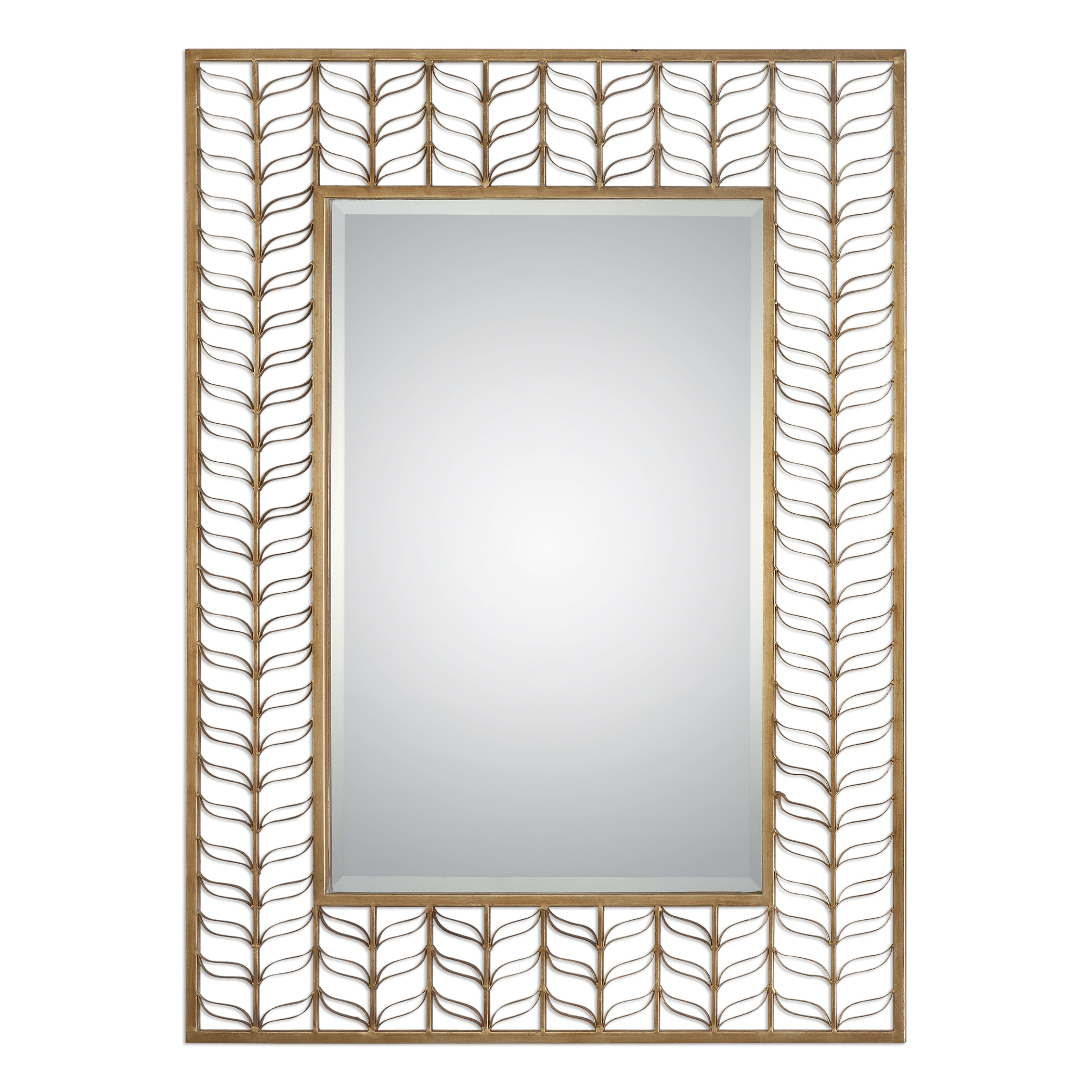 Uttermost Mirrors Phyllida Gold Mirror - Item Number: 09094