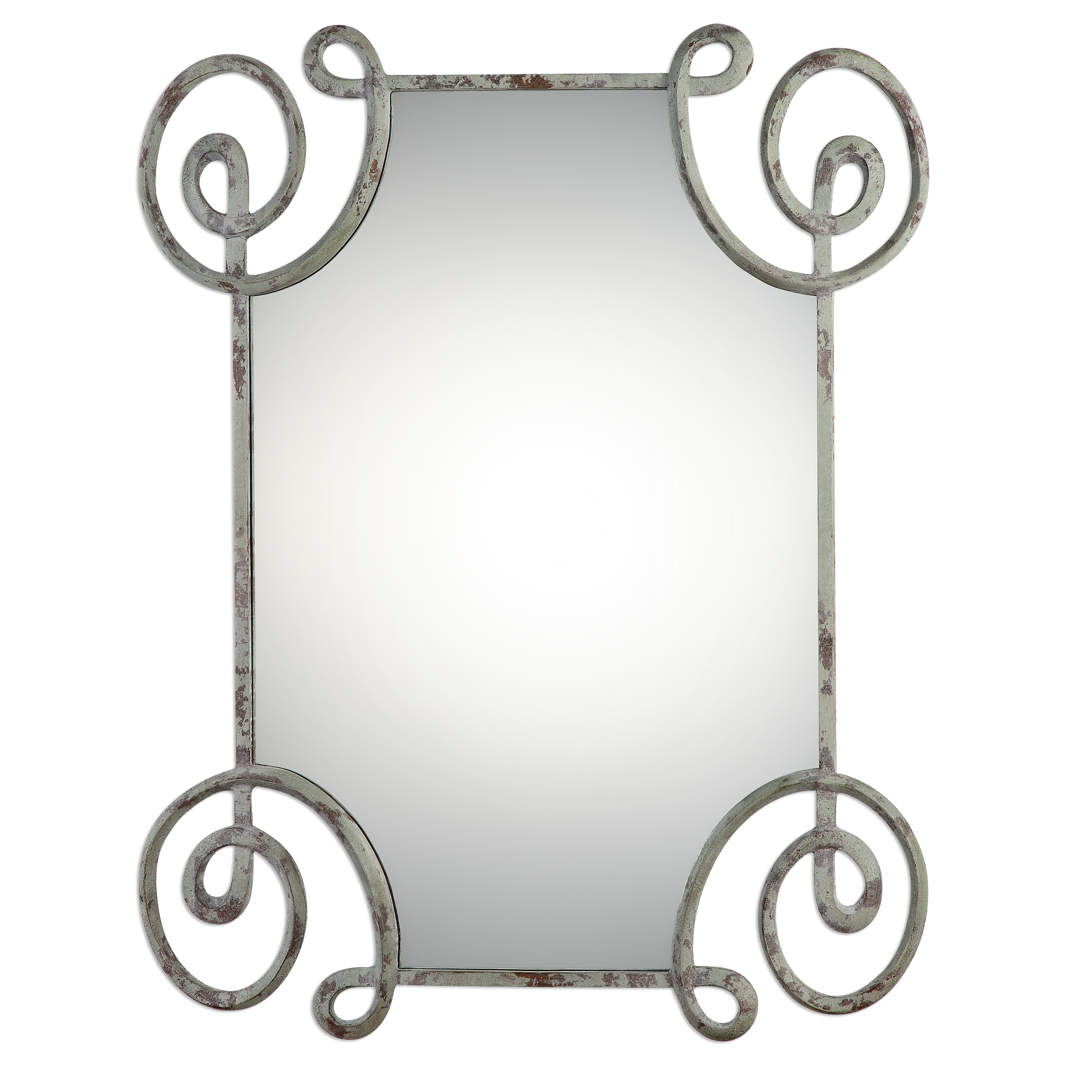 Uttermost Mirrors Rennes Distressed Iron Mirror - Item Number: 09104