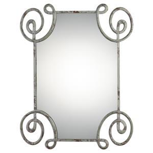 Uttermost Mirrors Rennes Distressed Iron Mirror