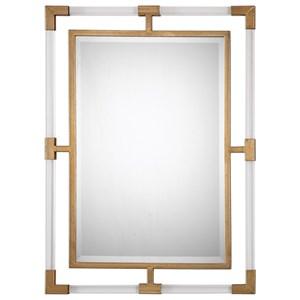 Uttermost Mirrors  Balkan Modern Gold Wall Mirror