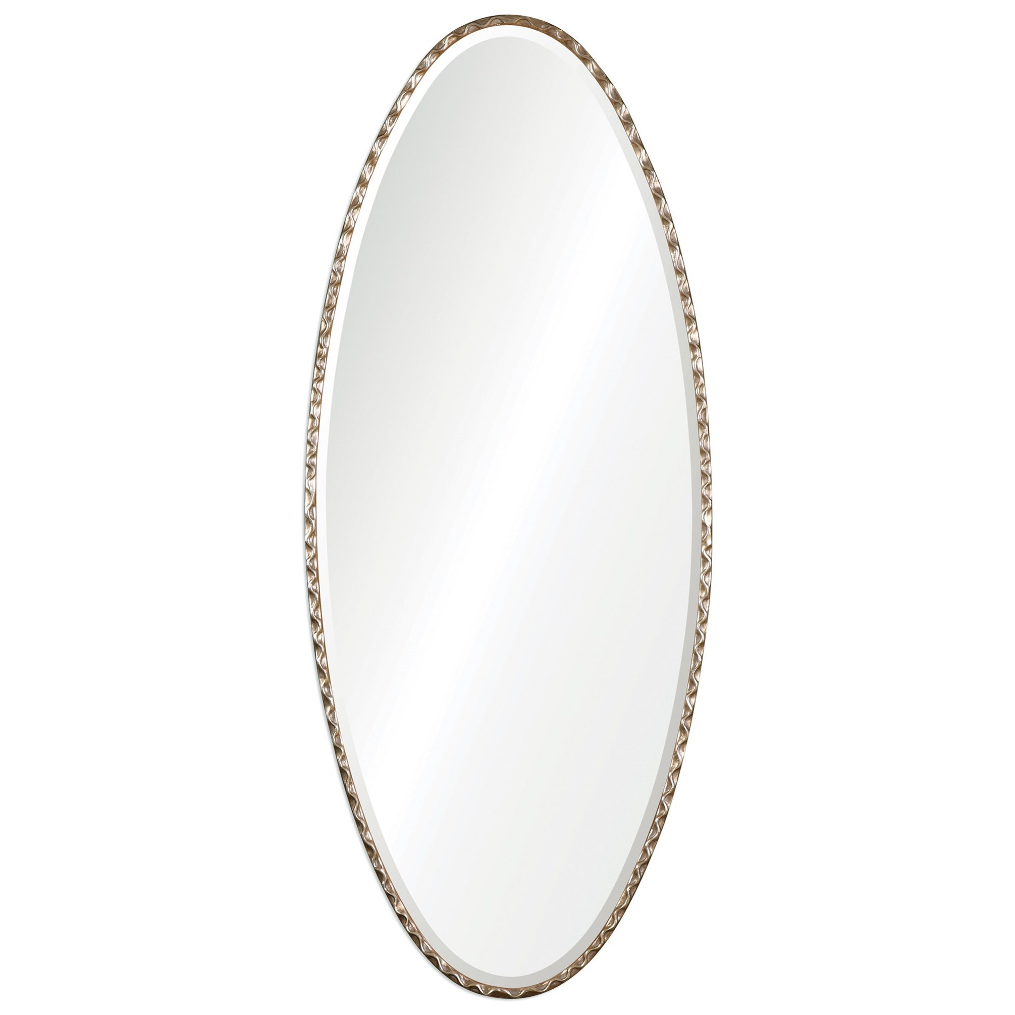 Uttermost Mirrors  Vicenza Elongated Oval Mirror - Item Number: 09126