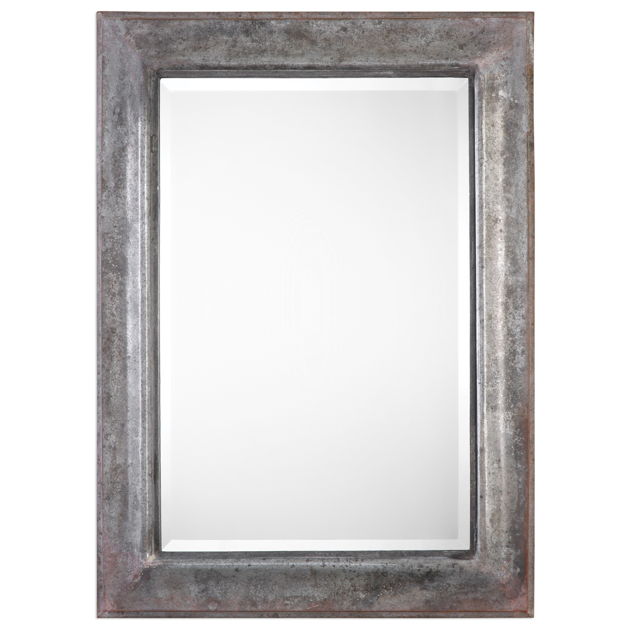 Uttermost Mirrors  Agathon Aged Stone Gray Mirror - Item Number: 09127