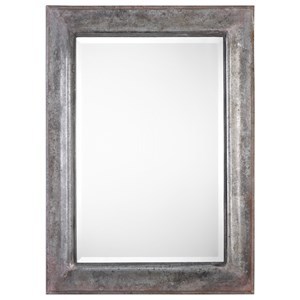 Agathon Aged Stone Gray Mirror