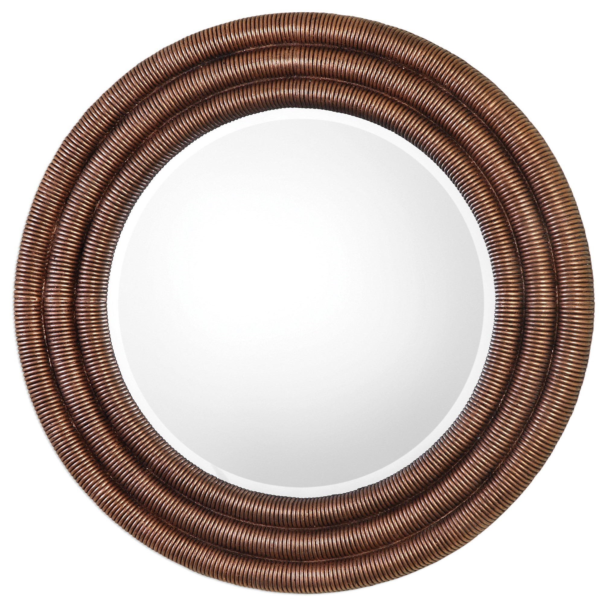 Uttermost Mirrors  Helical Round Copper Mirror - Item Number: 09143