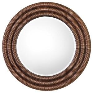 Uttermost Mirrors  Helical Round Copper Mirror