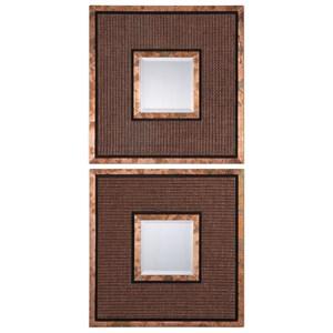 Uttermost Mirrors  Milia Weave Square Mirrors (Set of 2)