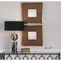 Uttermost Mirrors  Milia Weave Square Mirrors (Set of 2)
