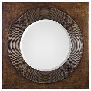 Uttermost Mirrors  Eason Golden Bronze Round Mirror