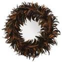 Uttermost Mirrors  Piuma Round Feather Mirror - Item Number: 09164