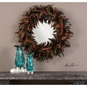 Uttermost Mirrors  Piuma Round Feather Mirror