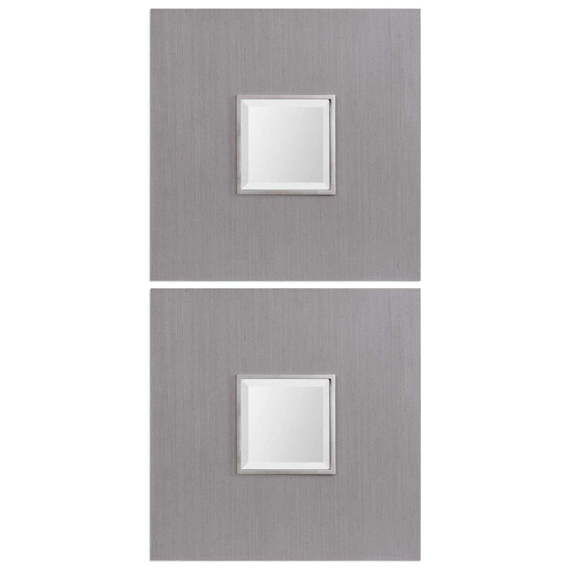 Uttermost Mirrors Scotten Squares (Set of 2) - Item Number: 09165