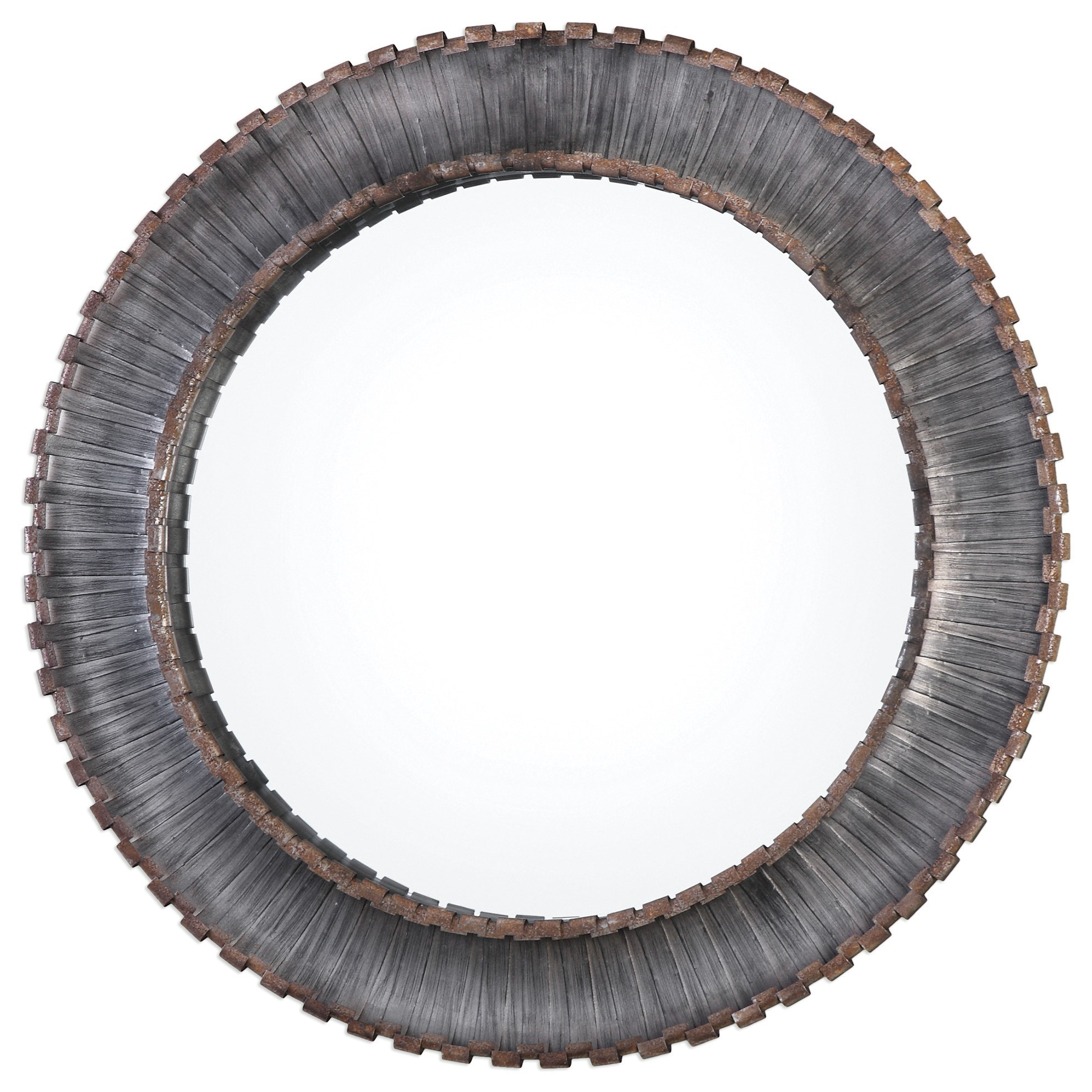 Uttermost Mirrors  Tanaina Silver Round Mirror - Item Number: 09175