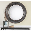 Uttermost Mirrors  Tanaina Silver Round Mirror
