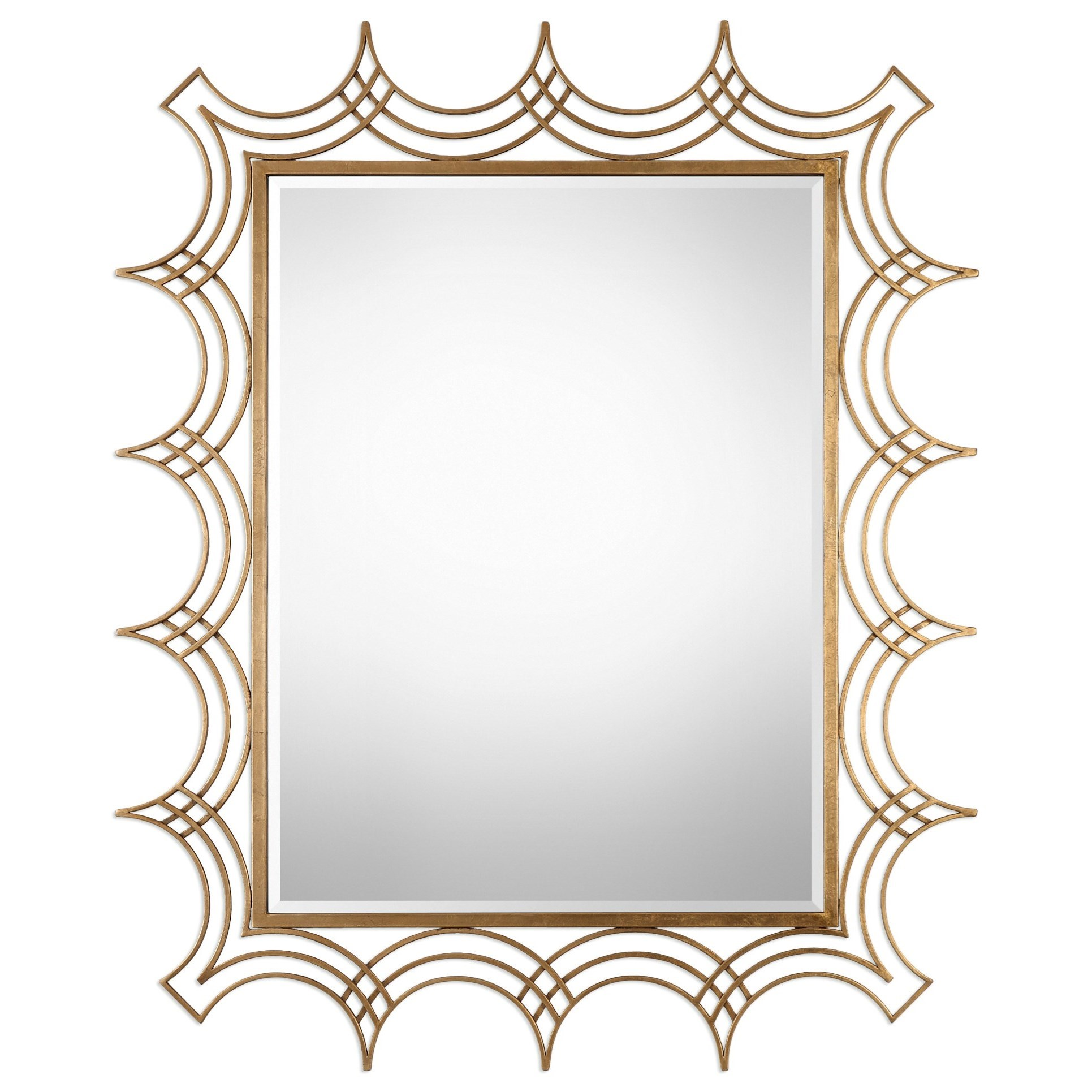Uttermost Mirrors  Kiowa Gold Mirror - Item Number: 09176