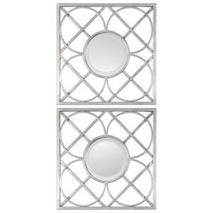 Uttermost Mirrors  Yasmina Silver Square Mirrors (Set of 2)
