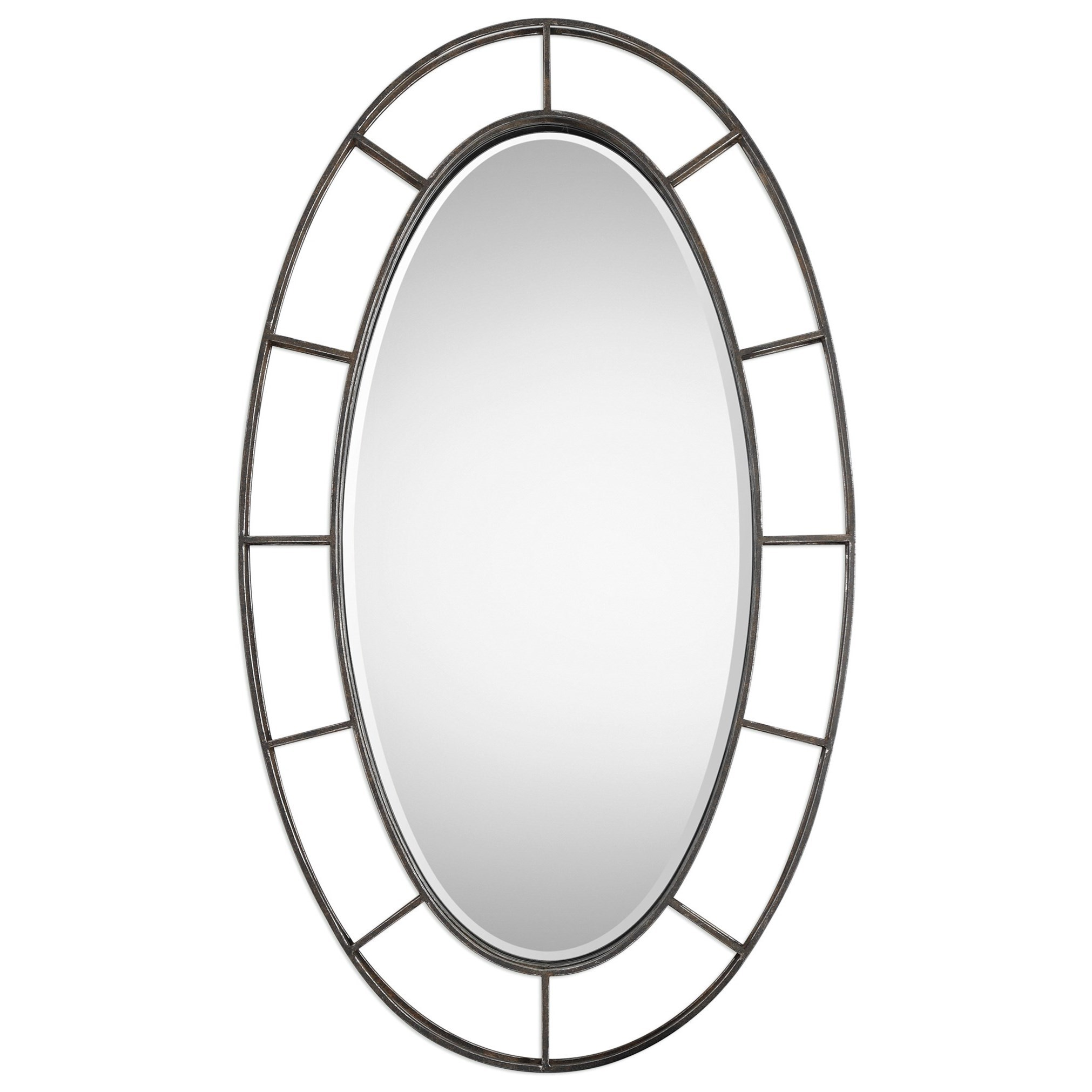 Uttermost Mirrors  Gilliam Oval Mirror - Item Number: 09182