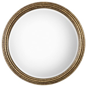 Uttermost Mirrors Spera Round Gold Mirror