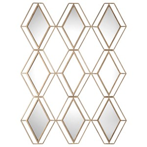 Uttermost Mirrors Soren Diamond Gold Mirror