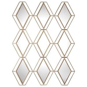 Uttermost Mirrors Soren Diamond Gold Mirror