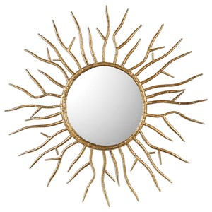 Uttermost Mirrors Astor Gold Starburst Mirror