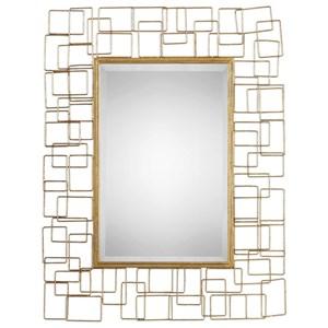 Uttermost Mirrors Asner Modern Gold Mirror