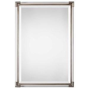 Mackai Metallic Silver Mirror